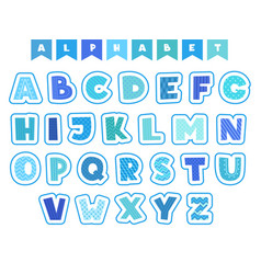 cartoon alphabet letters fonts symbols and vector image