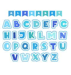 Cartoon alphabet letters fonts symbols vector