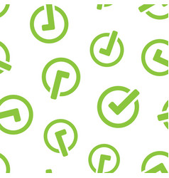 check mark icon seamless pattern background ok vector image