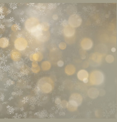 christmas defocused blurred gold background with vector image