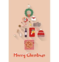 Christmas New Year Holiday items Set vector image