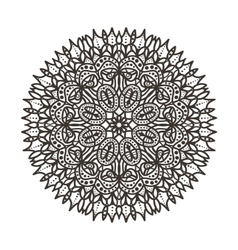 Circular lace pattern vector