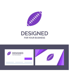 Creative business card and logo template afl vector