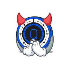 Devil qash coin mascot cartoon vector