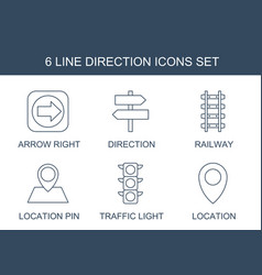 Direction icons vector