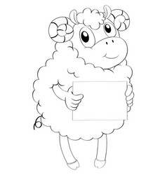 Doodle animal for lamb vector