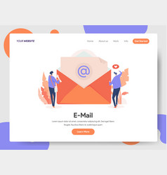 e-mail with two businessman vector image