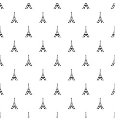 Eiffel tower pattern vector