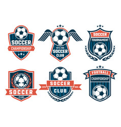 emblem football theme sport logos vector image