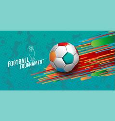 European soccer tournament 2020-2021 background vector