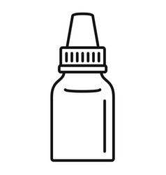 Eye drop bottle icon outline style vector