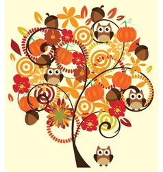 Fall tree vector