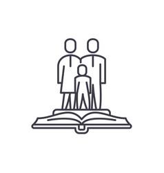 Family law line icon concept family law vector