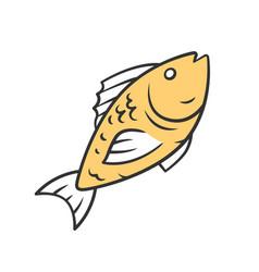 fish color icon cafe restaurant menu species vector image