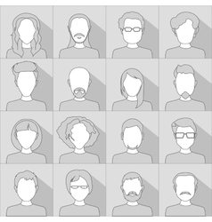 Flat people icons Set of stylish people icons in vector image