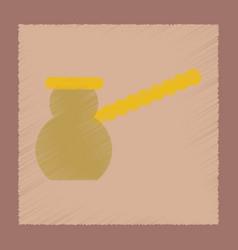 Flat shading style icon coffee turk vector