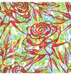 Flower rose seamless 002 vector