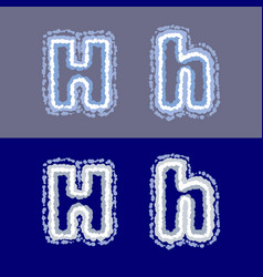 letter h on grey and blue background vector image