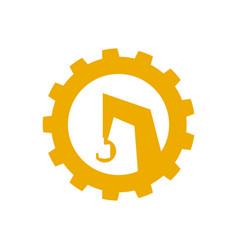 Logo a construction crane icon special vector