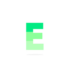 logo letter e green energy battery vector image