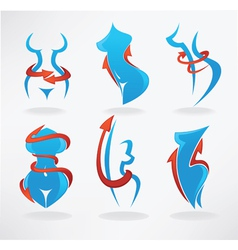 loose weight be fit collection of symbols vector image