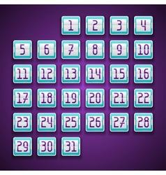 Mechanical scoreboard numbers calendar vector image