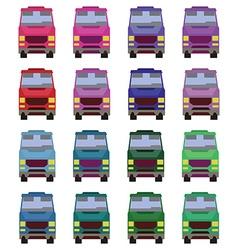 Minibus front view vector