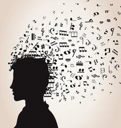 Musical man vector