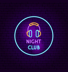 night club neon sign vector image