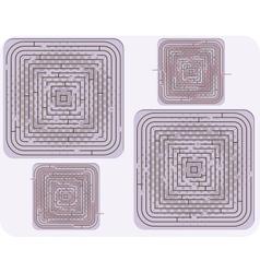 Of maze vector