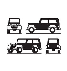 off road vehicle in perspective vector image