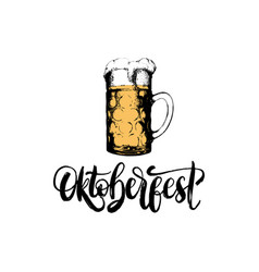 Oktoberfestlettering on on rombic pattern vector