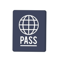 passport with earth diagram icon vector image