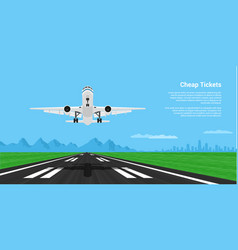 plane taking off vector image