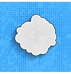 Pop art speech bubble on blue background vector image