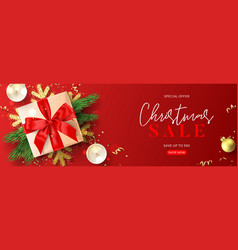 promo banner for christmas sale vector image