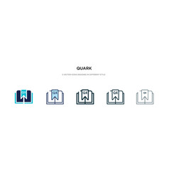 Quark icon in different style two colored vector