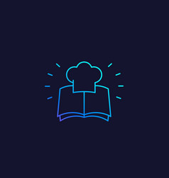 Recipe book icon linear vector