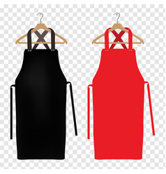 red and black aprons vector image