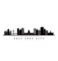 salt lake city skyline horizontal banner vector image