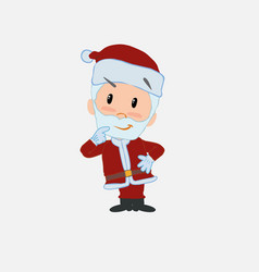 Santa claus thoughtful and happy vector