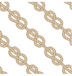 Seamless marine rope pattern figure 8 knot vector