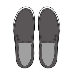 Slip-on shoes template vector