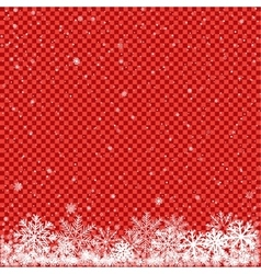 snow on red transparent background vector image
