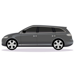 Station wagon car body type vector