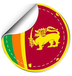 Sticker design for sri lanka flag vector