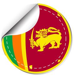 Sticker design for sri lanka flag vector