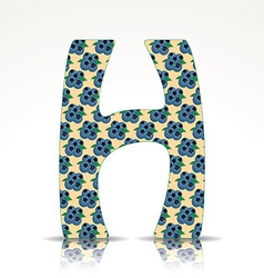 The letter h alphabet made huckleberry vector