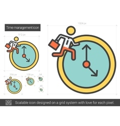 Time managment line icon vector