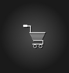 trolley for products icon flat vector image